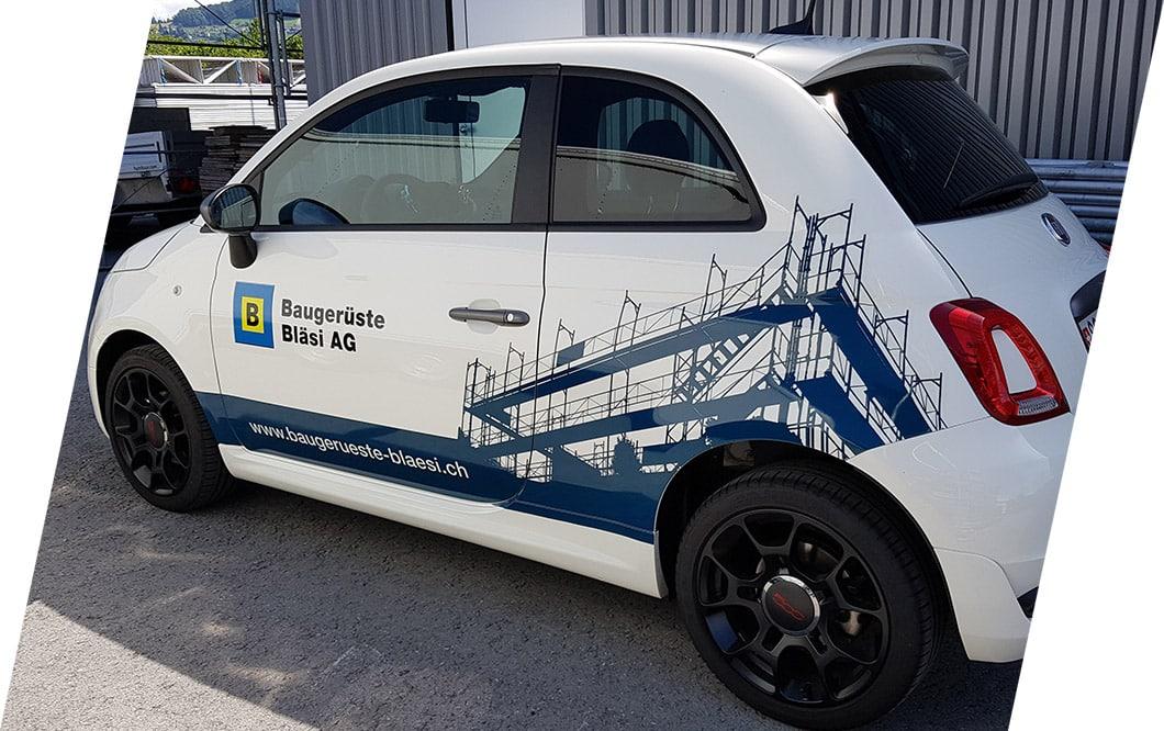 Beschriftung von Firmenfahrzeugen, LKWs oder Bussen | BeschriftungsCenter, Eugster AG, Thal